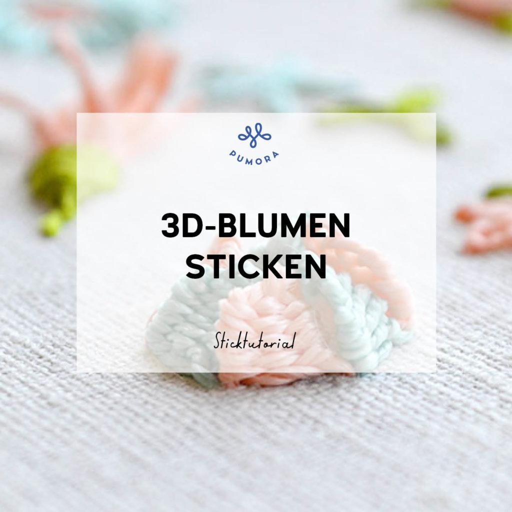 Blumen sticken 3d-Blumen