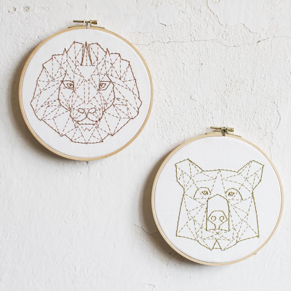 Der Stick-Bär und -Löwe jetzt auch als Kit mit Muckout!