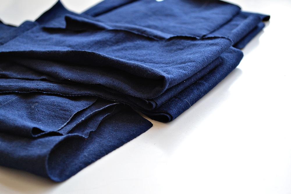 zuschnitt dunkelblaue Korsage