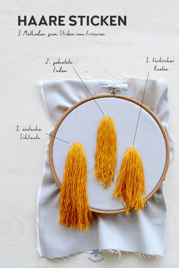 Haare sticken 3 Methoden zum Sticken von Frisuren