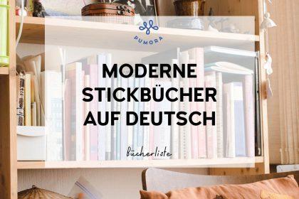 moderne Stickbücher auf deutsch