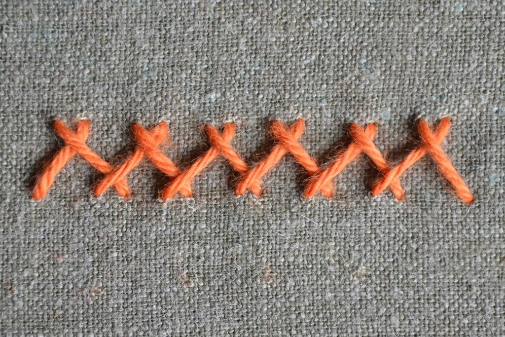 Hexenstich sticken