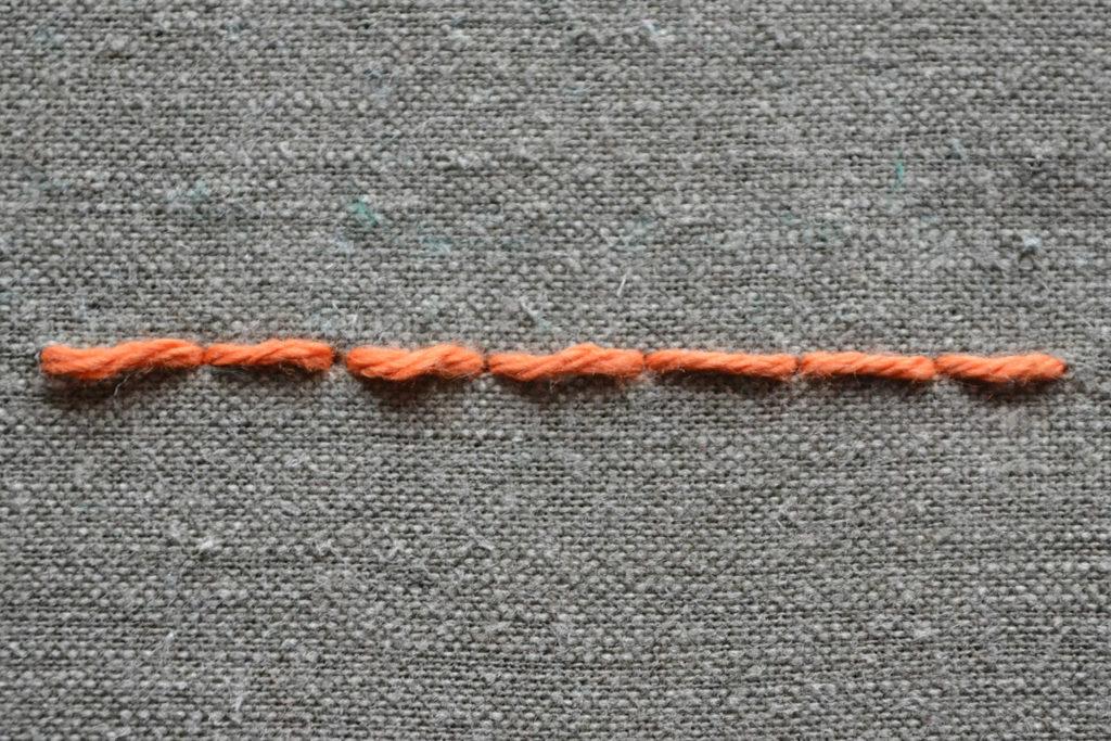 Rückstich sticken - Stickstiche lernen