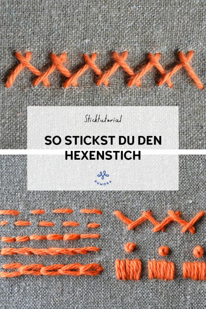 Hexenstich sticken - 7 Tage 7 Stiche