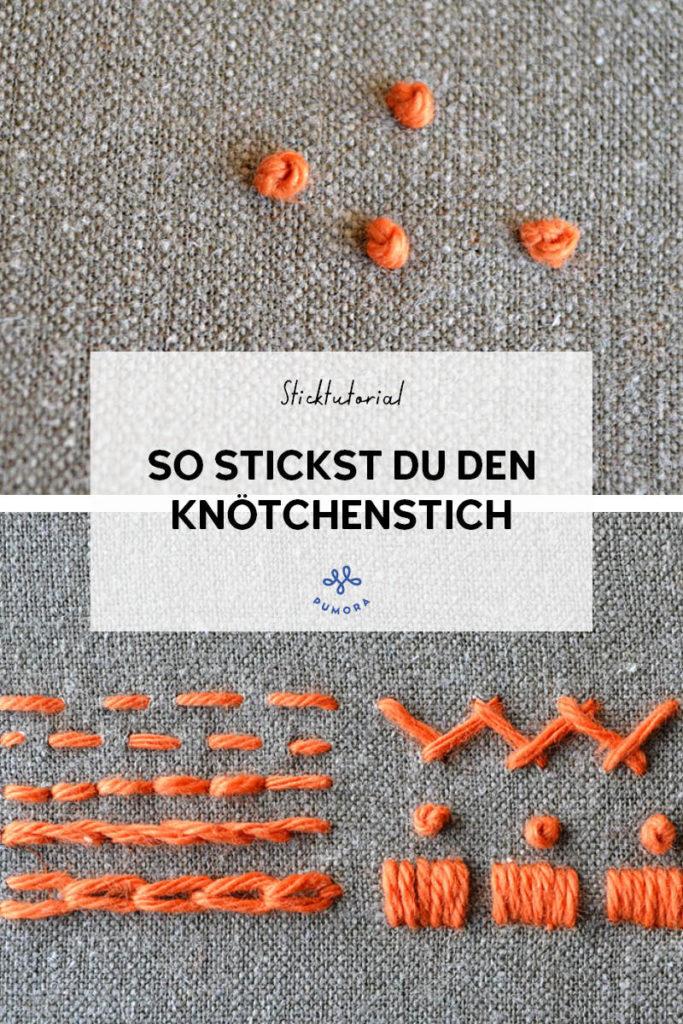 Knötchenstich sticken - 7 Tage 7 Stiche