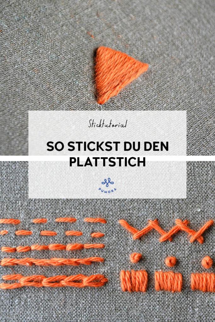 Plattstich sticken - 7 Tage 7 Stiche