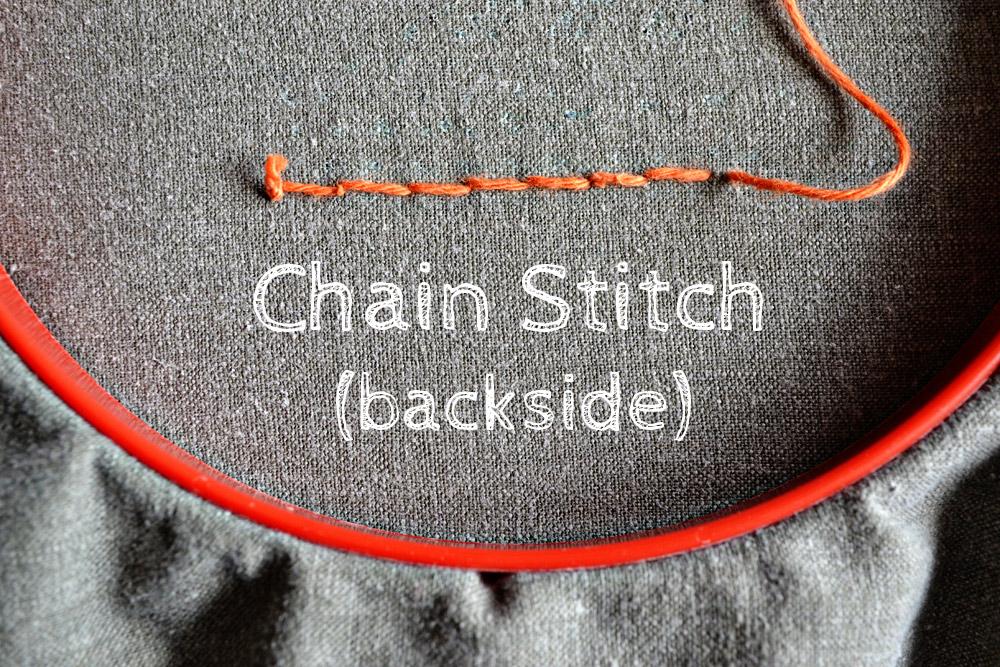 Kettenstich sticken - 7 Tage 7 Stiche