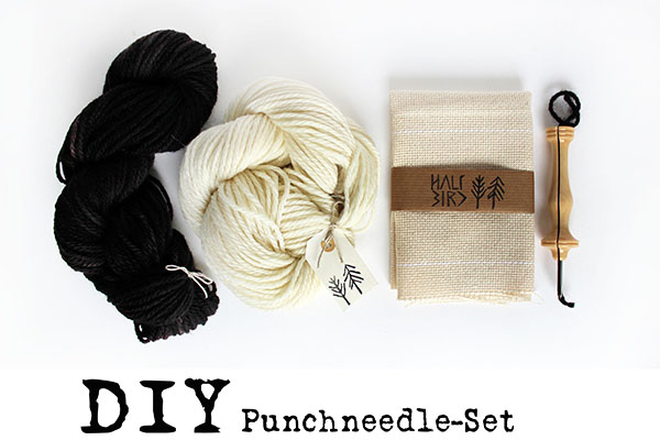halfbirdmona punch needle set