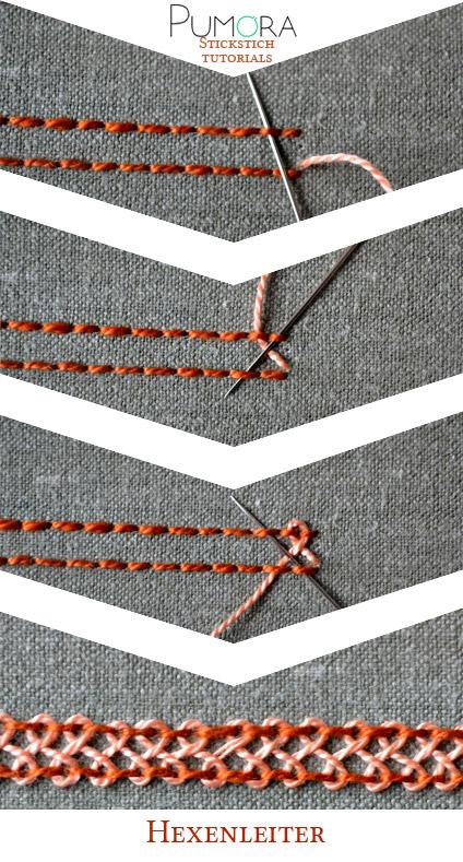 Hexenleiter Sticktutorial