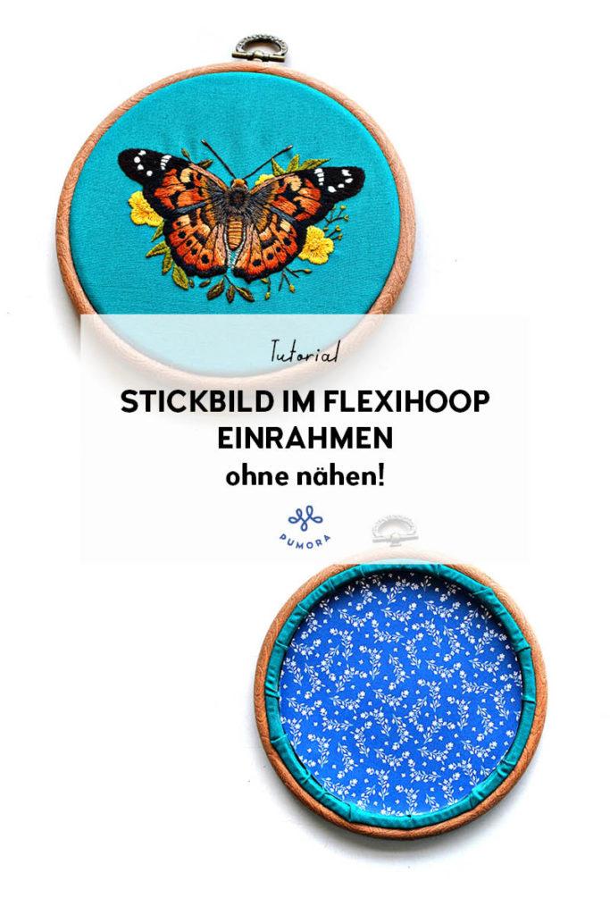 Stickbild im Flexihoop einrahmen ohne nähen