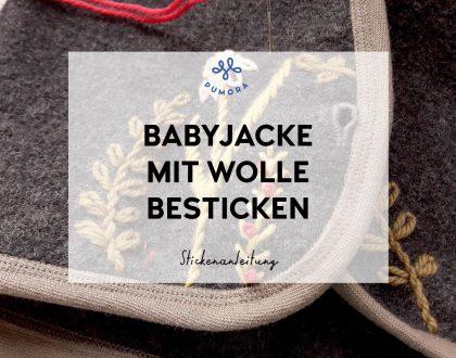 Stickanleitung: Babyjacke mit Wollgarn besticken