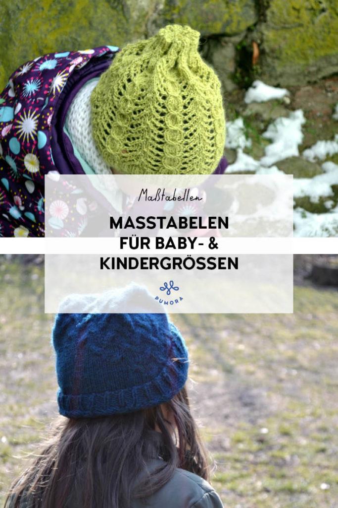 Maßtabellen für Baby- und Kindergrößen