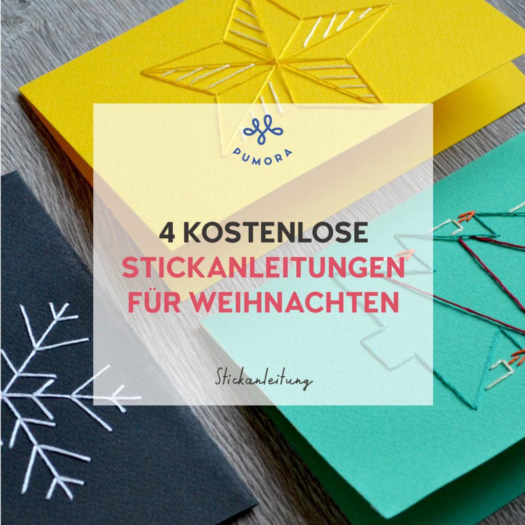 4 kostenlose Stickanleitungen für Weihnachten