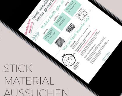 Stickmaterial aussuchen leicht gemacht: der Emailkurs