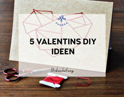 Ideen für DIY Valentinstag Stickereien