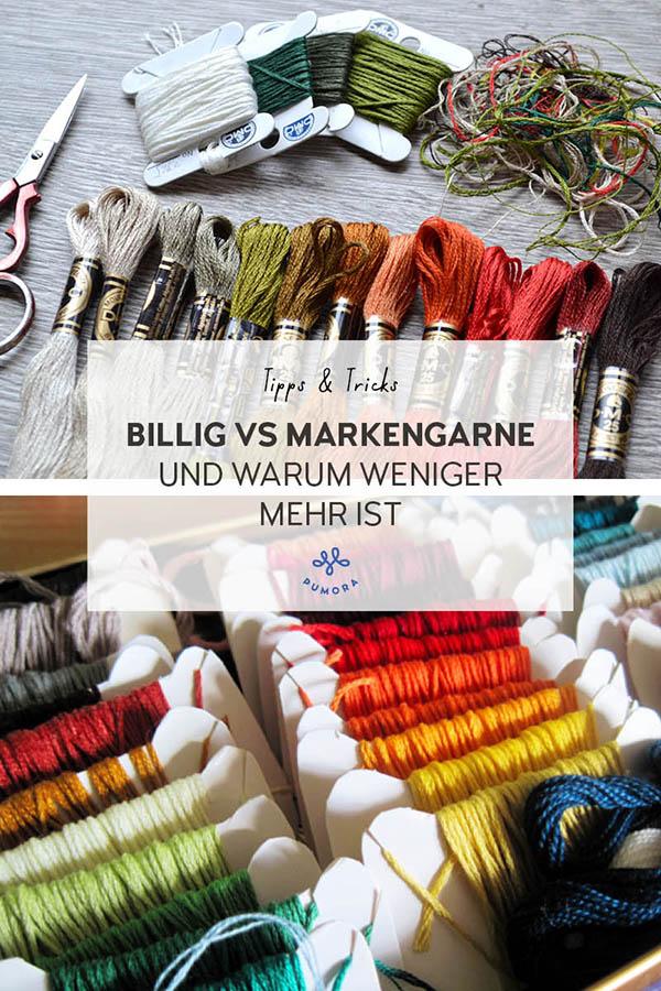 Stickgarn kaufen - Billig vs Markengarne