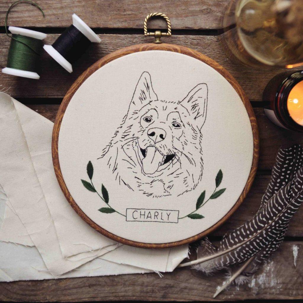 Haustier Portrait Stickbild von floss & flow