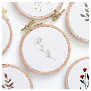 Blumen Stickbilder von Stickbienchen