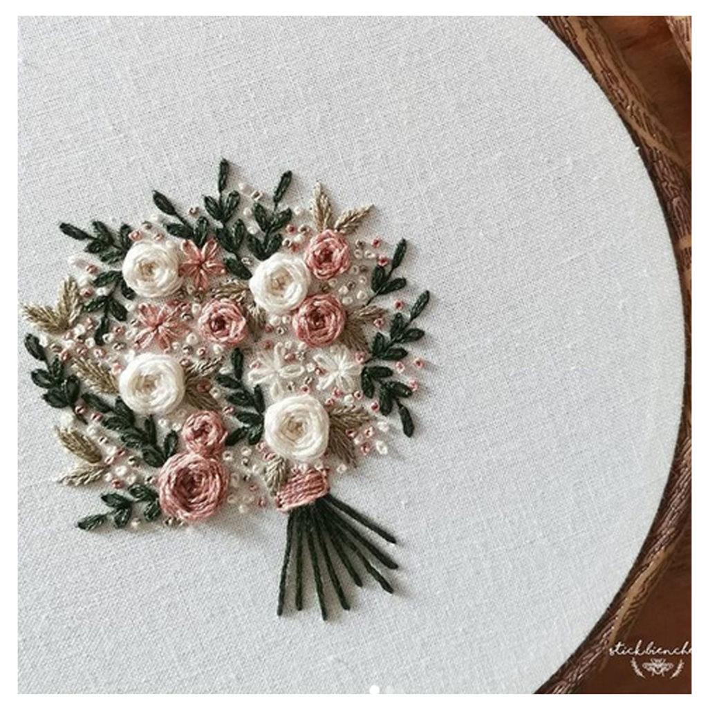 Blumenstrauss Stickbild von Stickbienchen