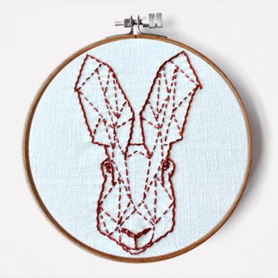 Geometrischer Hase Stickanleitung für Anfänger