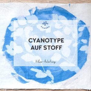 Cyanotype auf Stoff