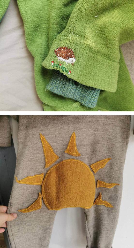 Kinderkleidung reparieren mit reparierenistliebe