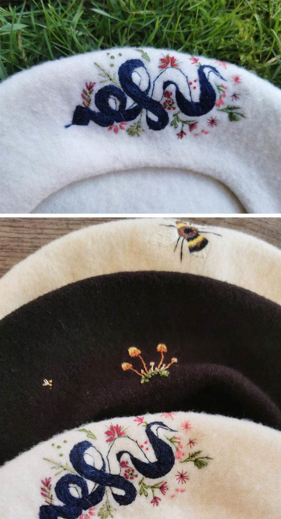 bestickte Wollmützen von Vera Teske